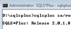 SQLS*Plus is several orders of magnitude better than SQL Server sqlcmd and osql command line tools