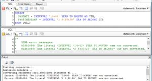 Oracle TO_TIMESTAMP_TZ function